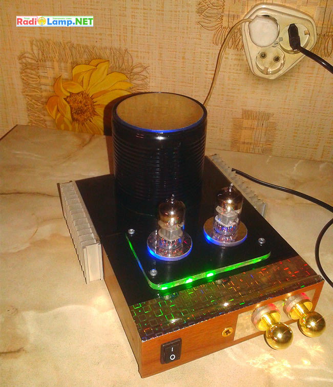 Схема гибридного УНЧ на лампе