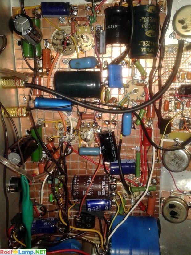 Монтаж лампового УНЧ на 6П45С
