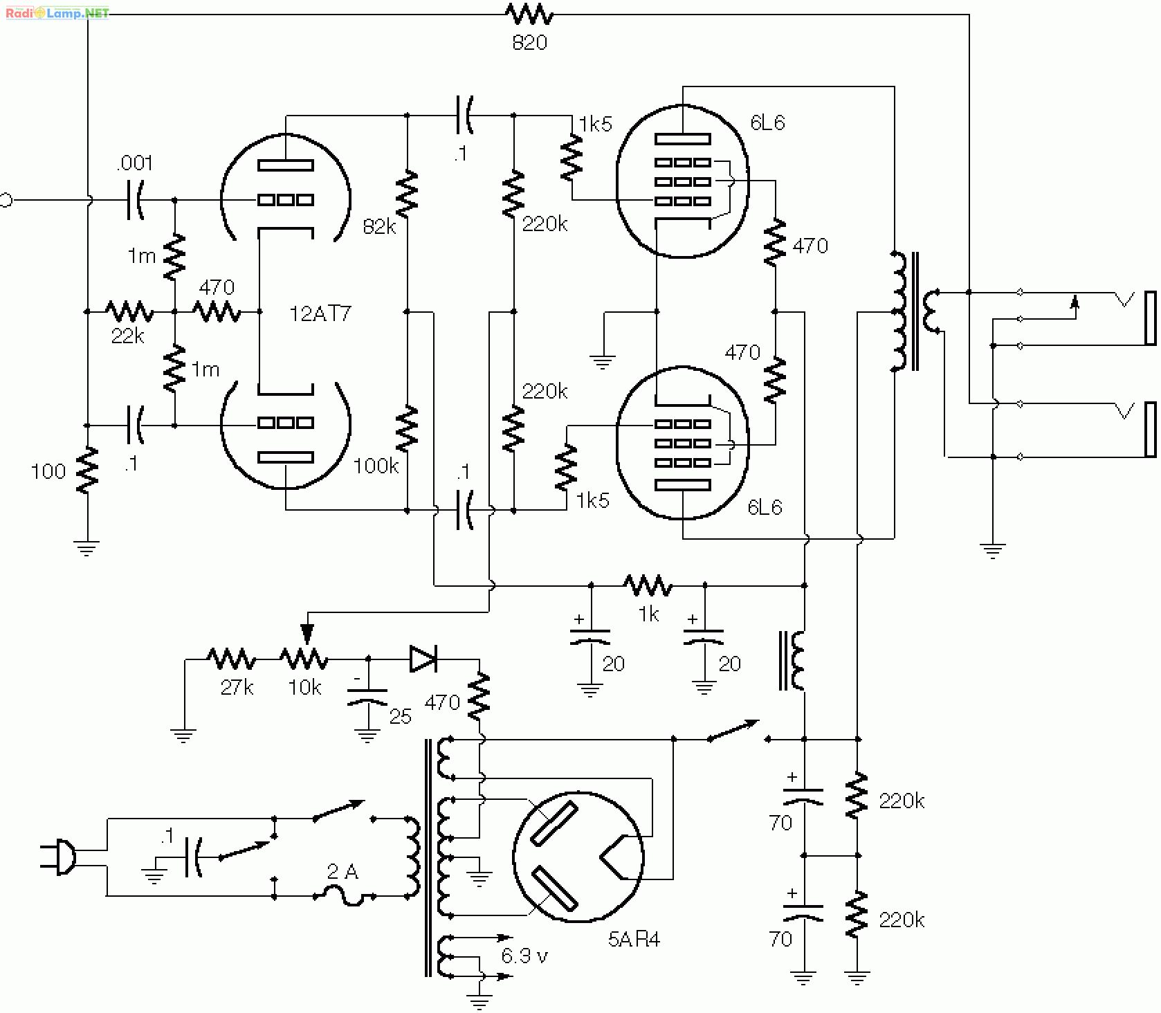 fender blackface power amp