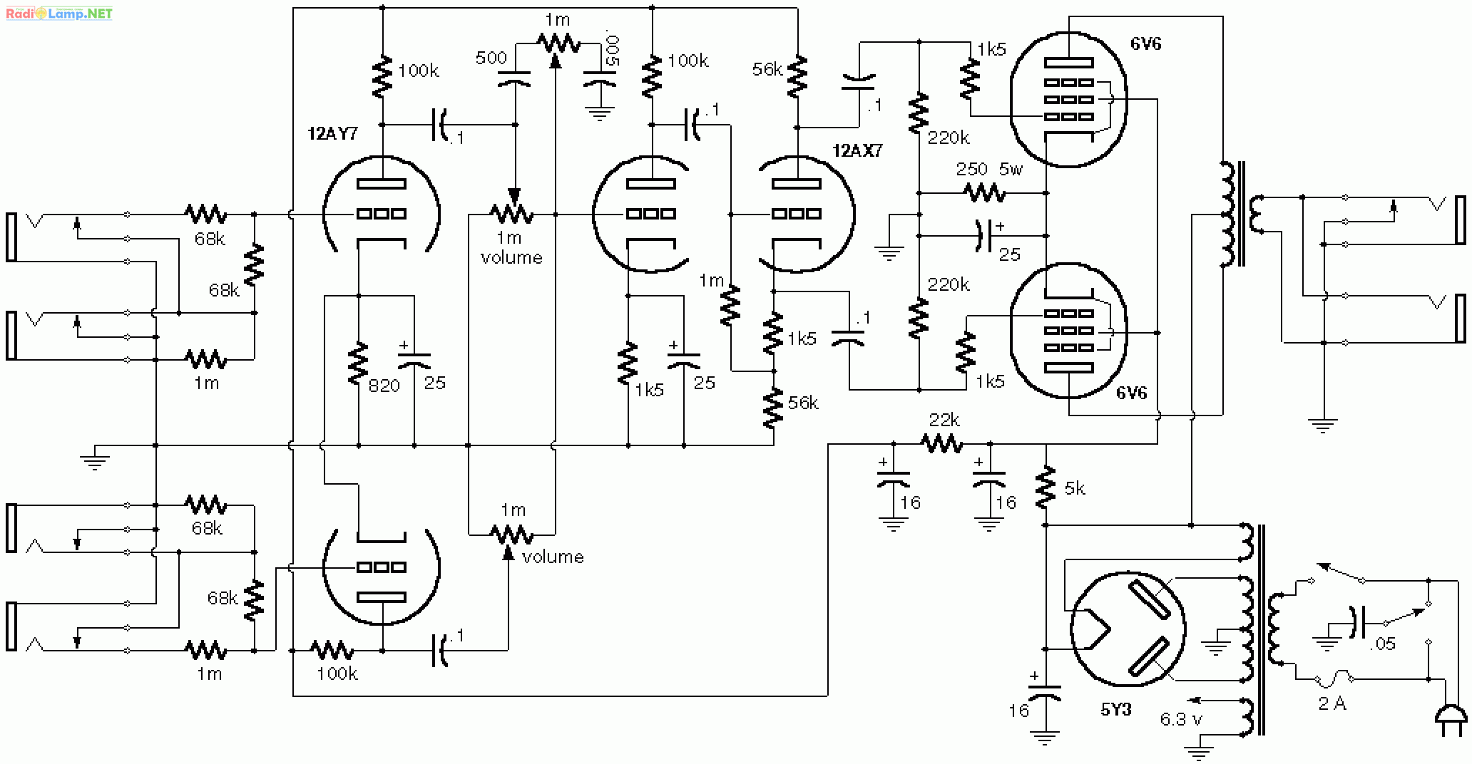 single ended el84 lifier schematic  single  free engine