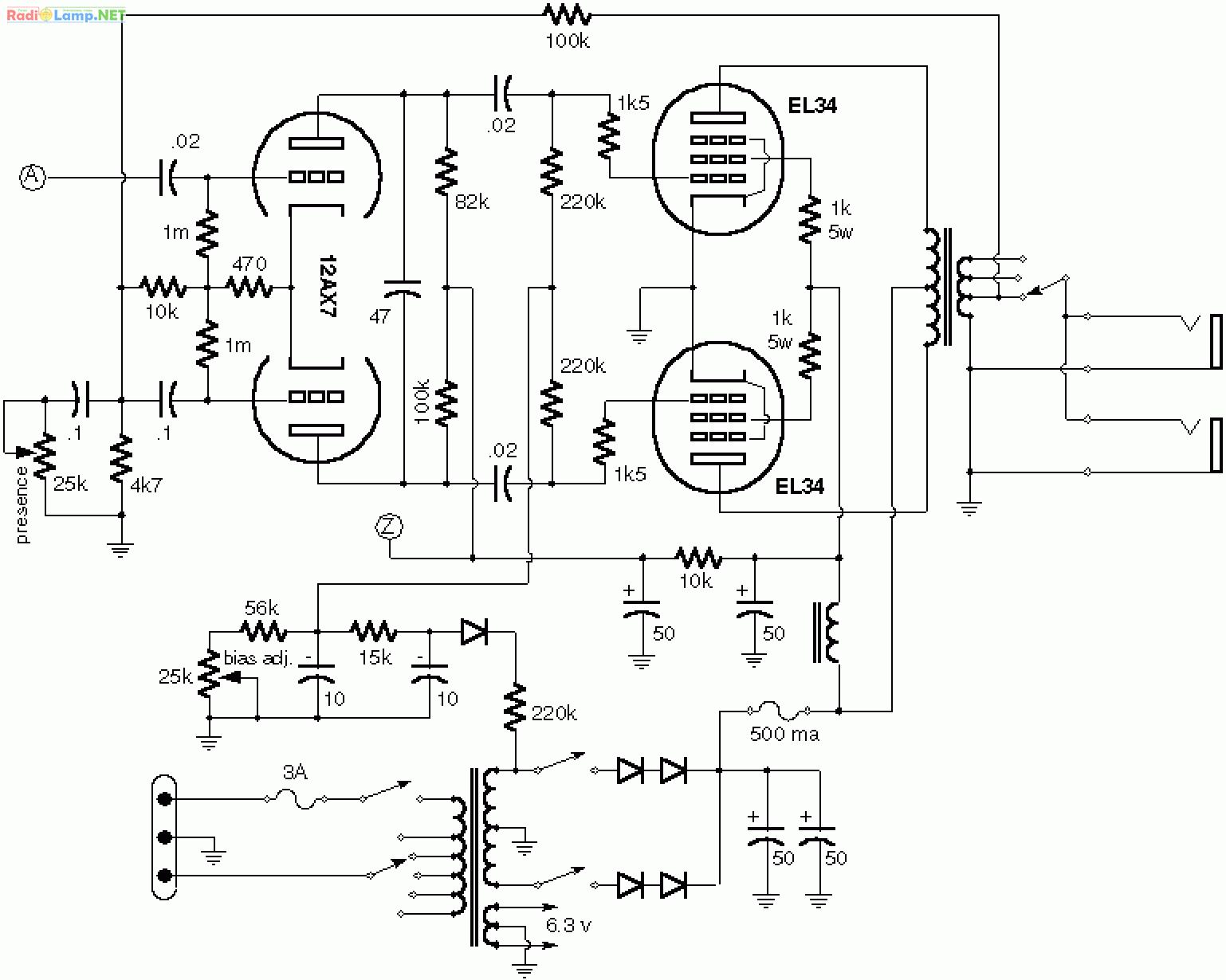 Радио-профи. Набор деталей для сборки однотактного лампового.