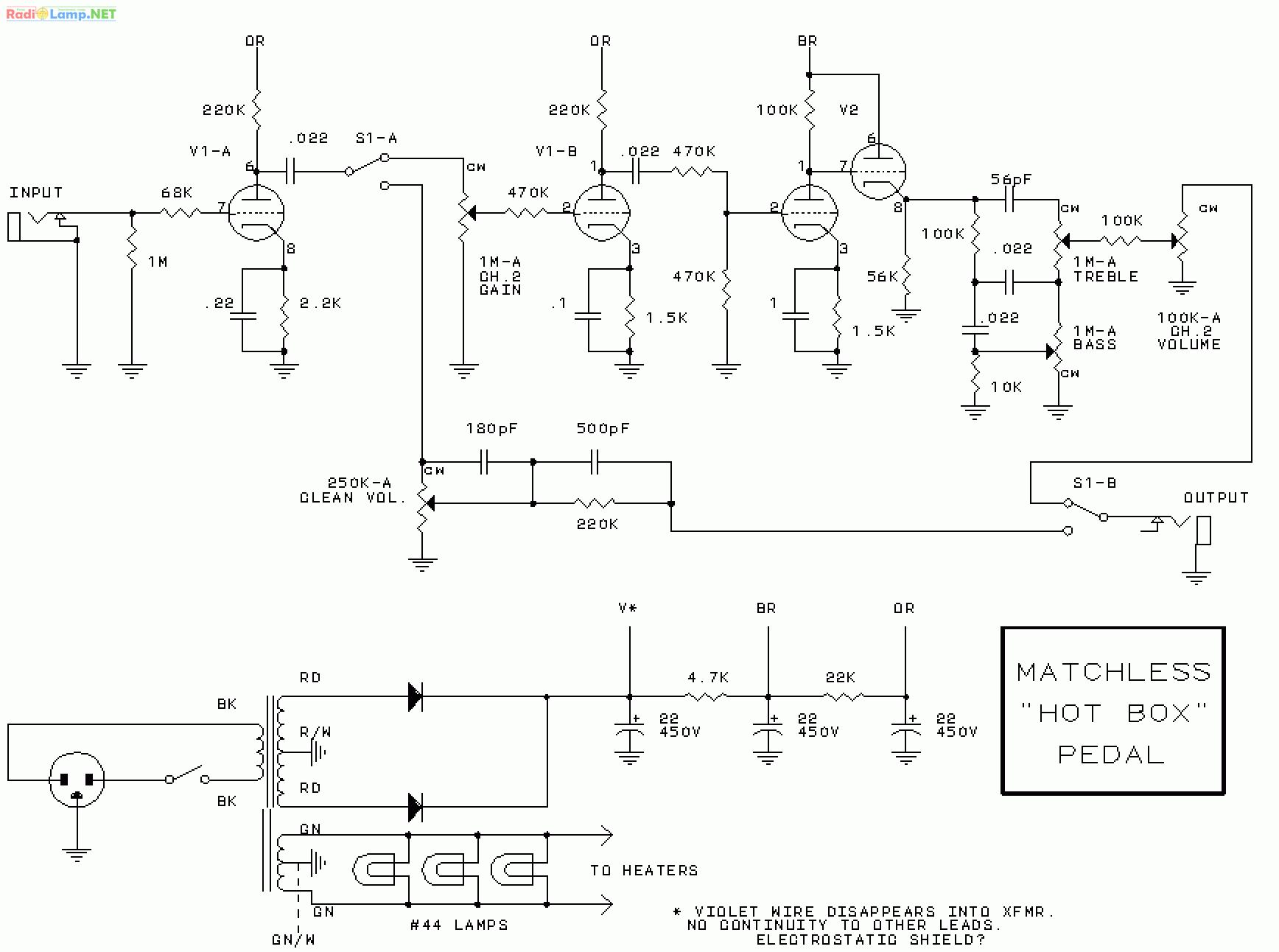 гибридный преамп схема