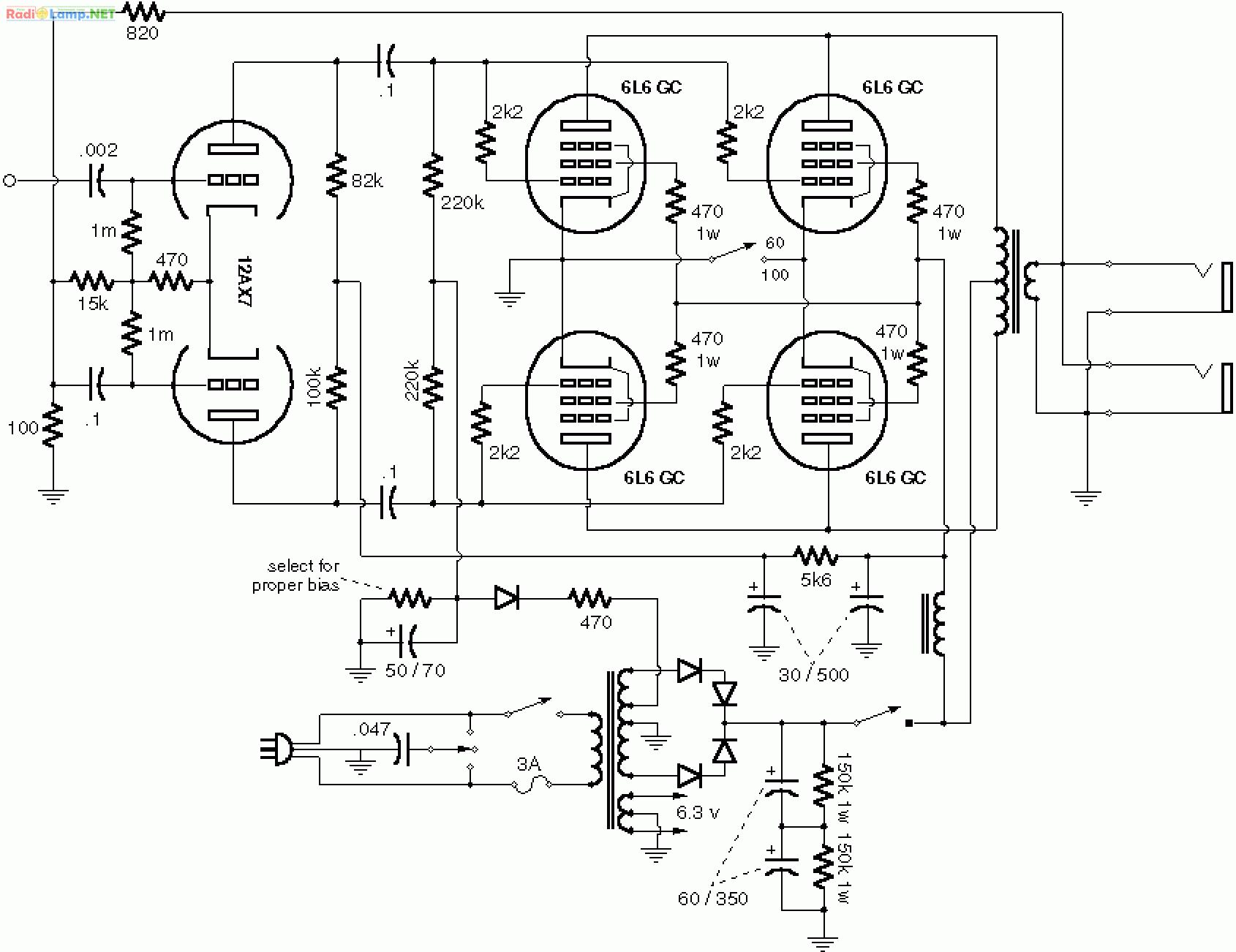 Усилитель 6п15п схема