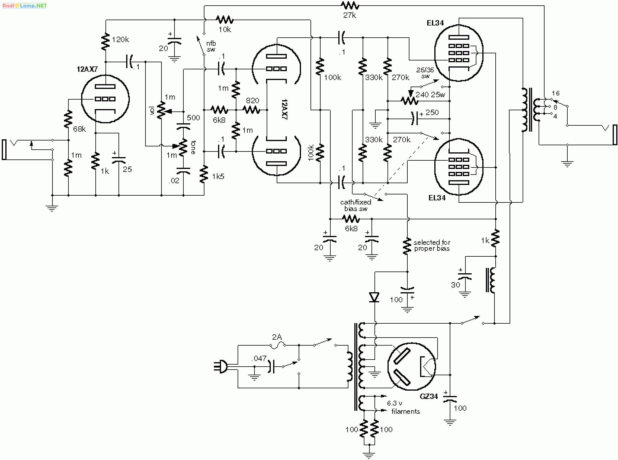 Схемы и чертежи усилителей