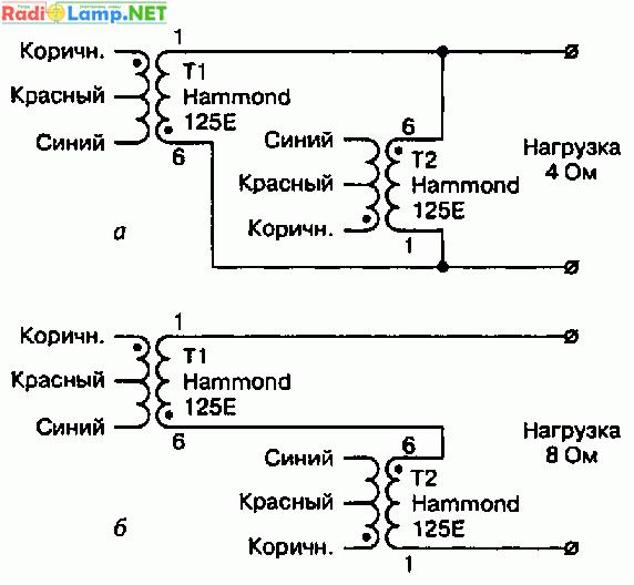 Схема лампового УМЗЧ Джона Стюарта (30 Вт) .