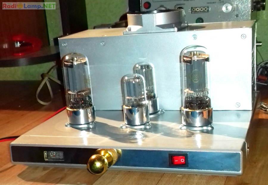 Ламповый усилитель на 6Н8С и 6П3С - вид в сборе