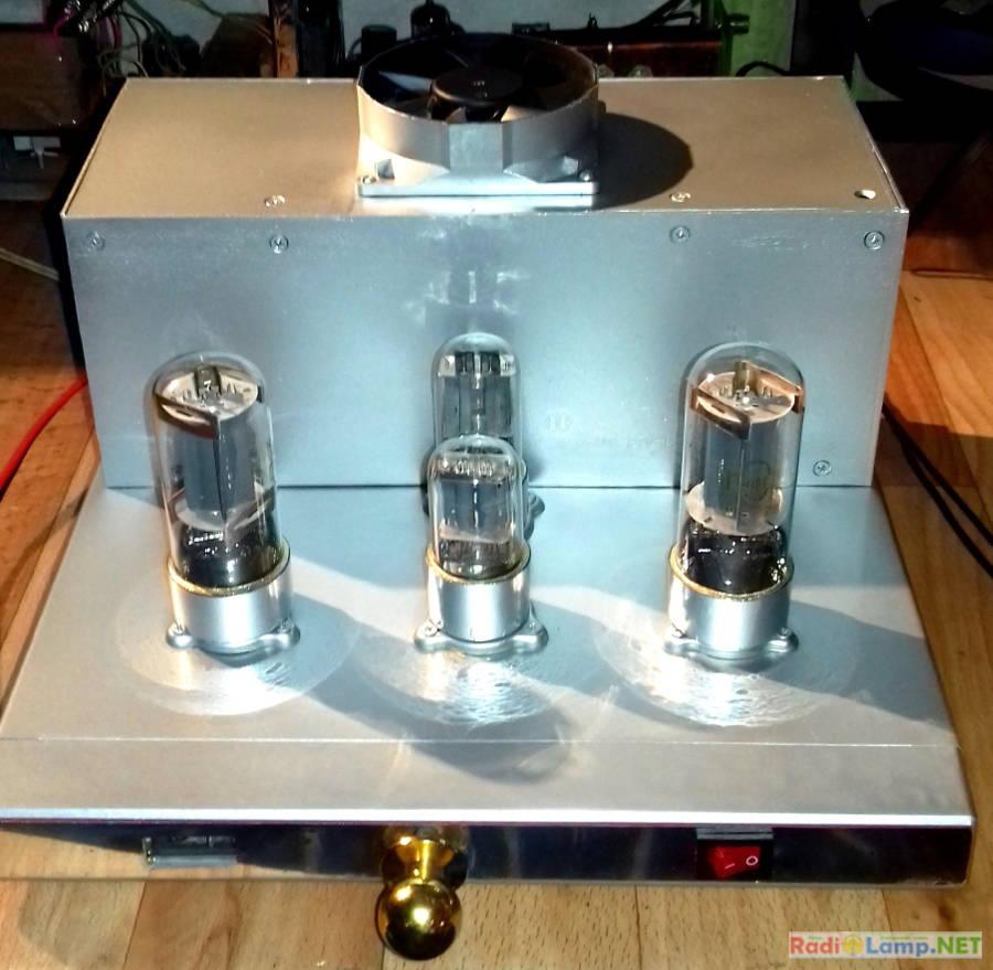 Ламповый усилитель на 6Н8С и 6П3С - фото готового устройства 1