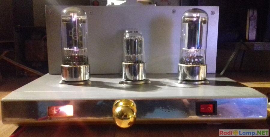 Ламповый усилитель на 6Н8С и 6П3С - фото готового устройства (2)