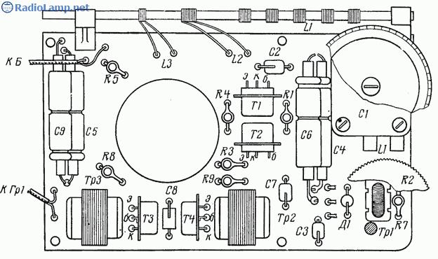 Схема радиоприемника 2-V-3 на