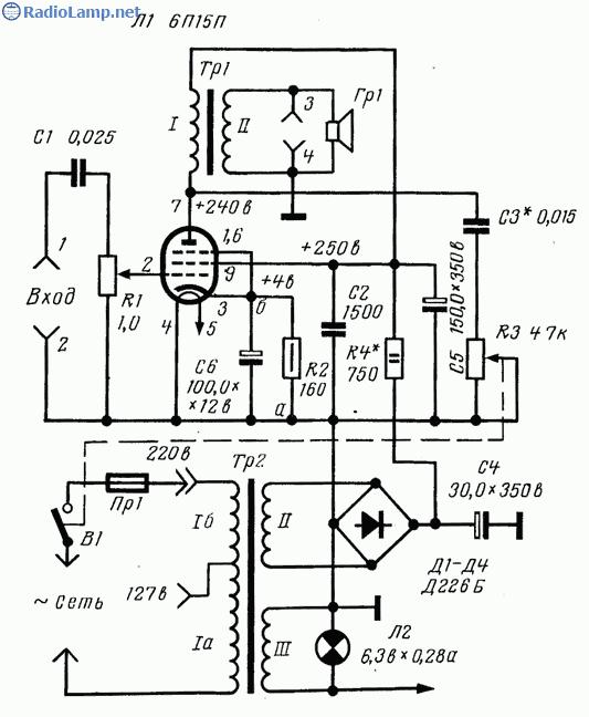 Схемы ламповых усилителей на