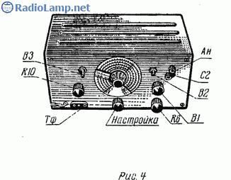 Схема приемника коротковолновика на лампах 6А2П, 6К4П, 6Н1П