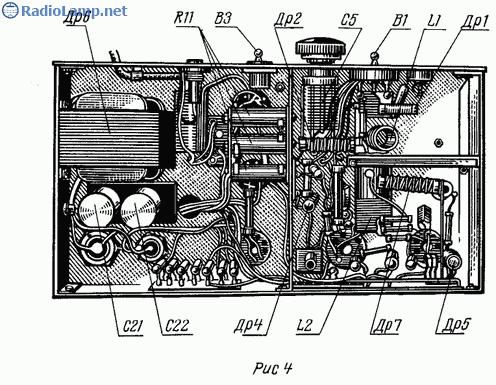 Схема любительского КВ передатчика (40 и 80 м) .