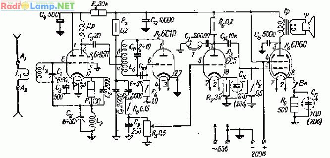 FM приемник 2-V-2 с низким