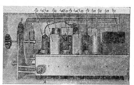 Расположение компонентов на шасси приемника