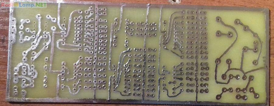 Готовая печатная плата для часов на индикаторах ИН-12