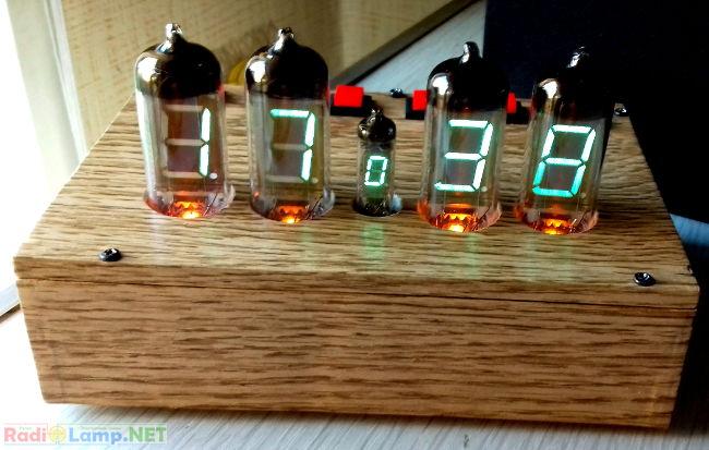 Внешний вид готовых часов на индикаторах ИВ-11