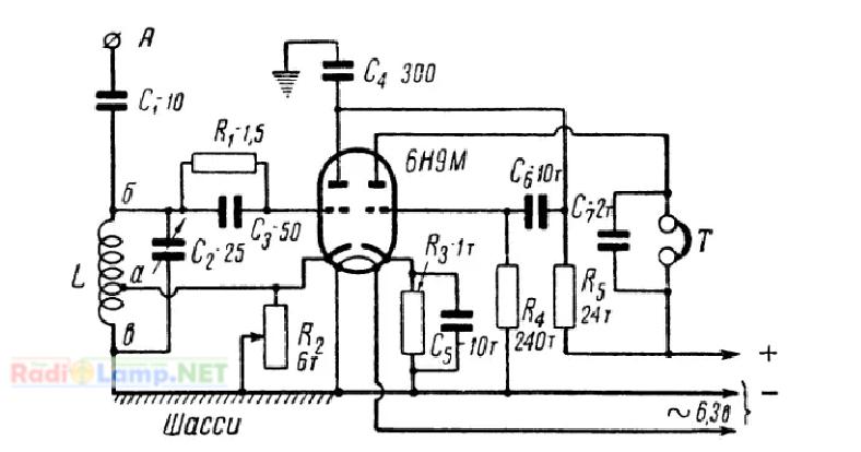Простой коротковолновый (КВ) приемник для начинающих, схема