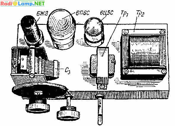 деталей на шасси приемника
