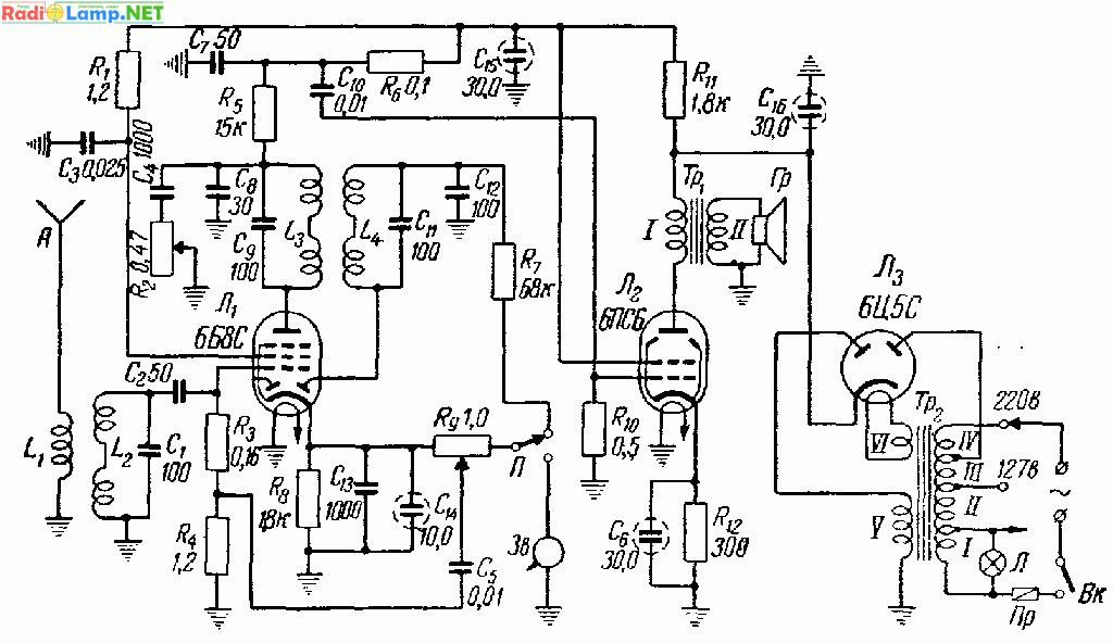 переносная радиола (6Б8С,