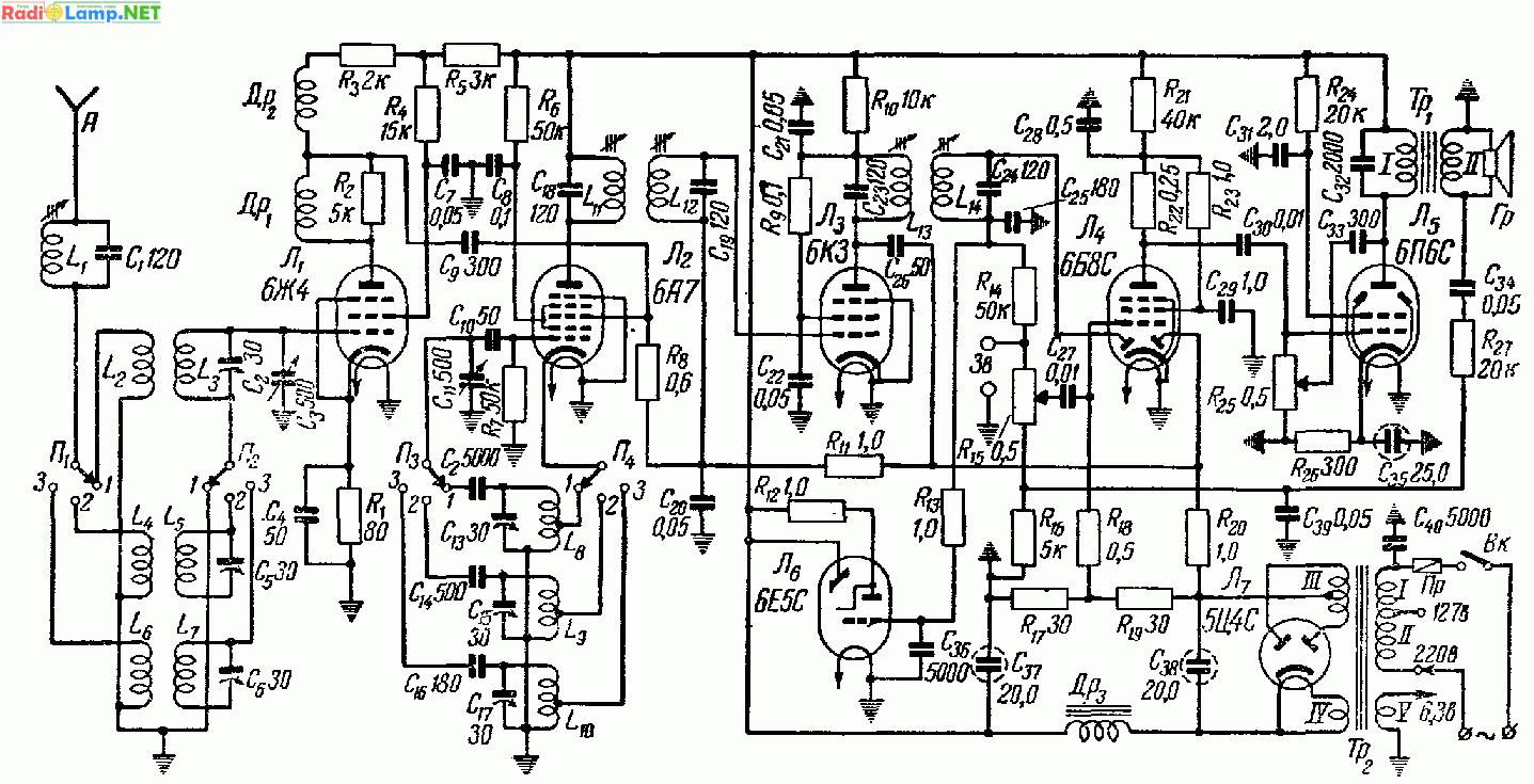Данный приемник по схеме и конструкции является дальнейшим усовершенствованием приемника РЛ-1 (стр. 74).