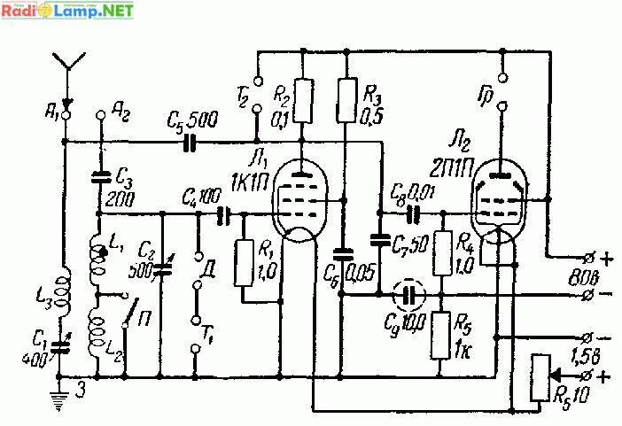 Трансивер на пальчиковых лампах