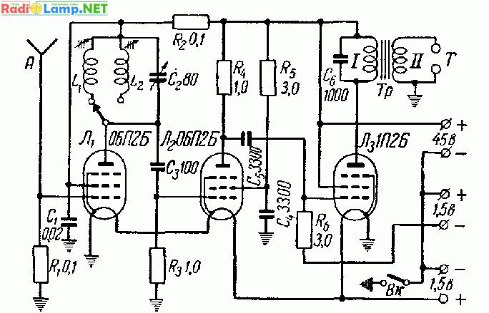 Схема карманного приемника