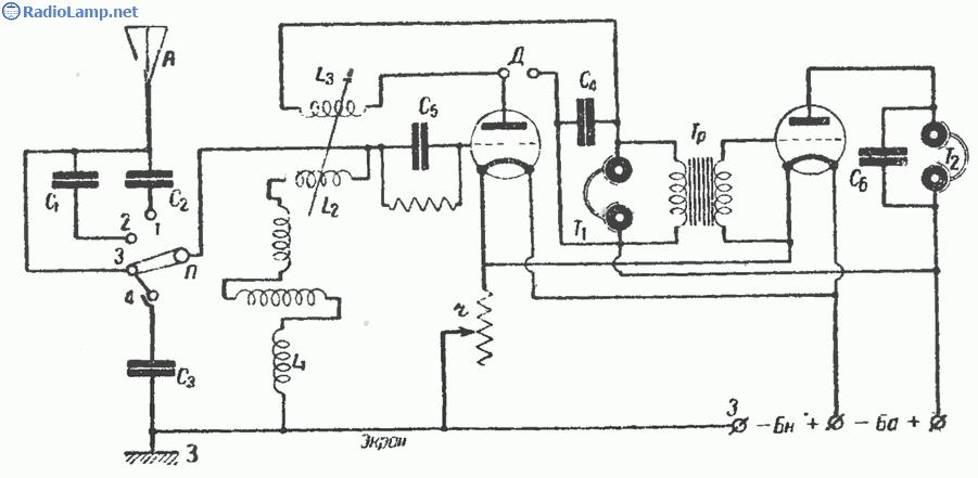 Схема фабричного приемника ПЛ-