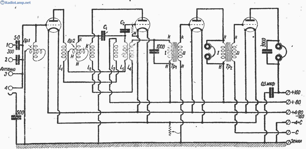 Схема фабричного лампового