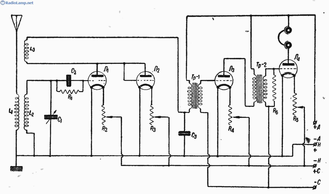 Коротковолновый радиоприемник по схеме 0-V-2.