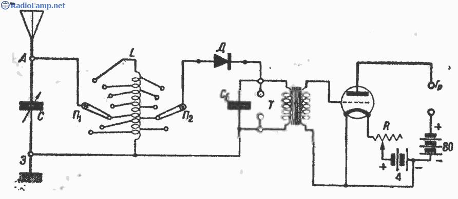 Лампово-детекторный приемник