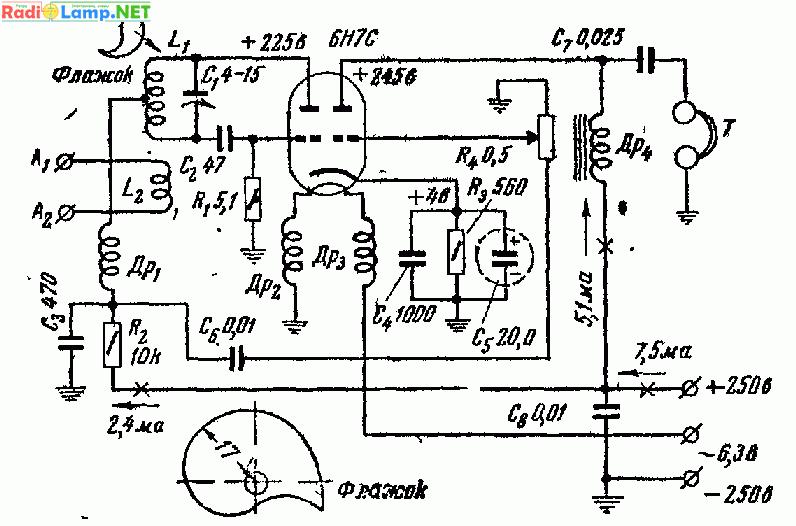 Схема детекторен приемник.