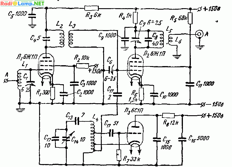 предназначен для усиления сигналов радиовещательных и телевизионных станций метрового диапазона Принципиальная схема...