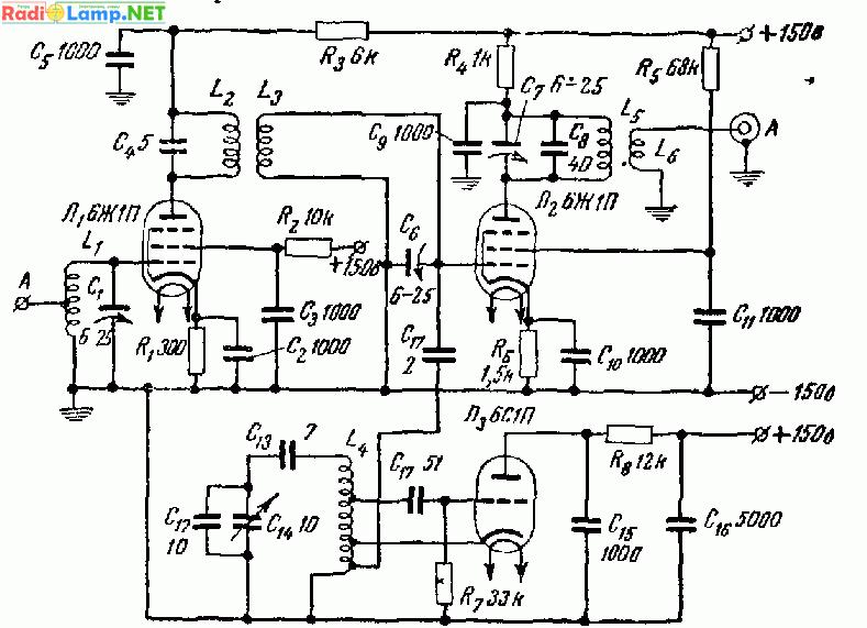 Схема УКВ конвертера 50м