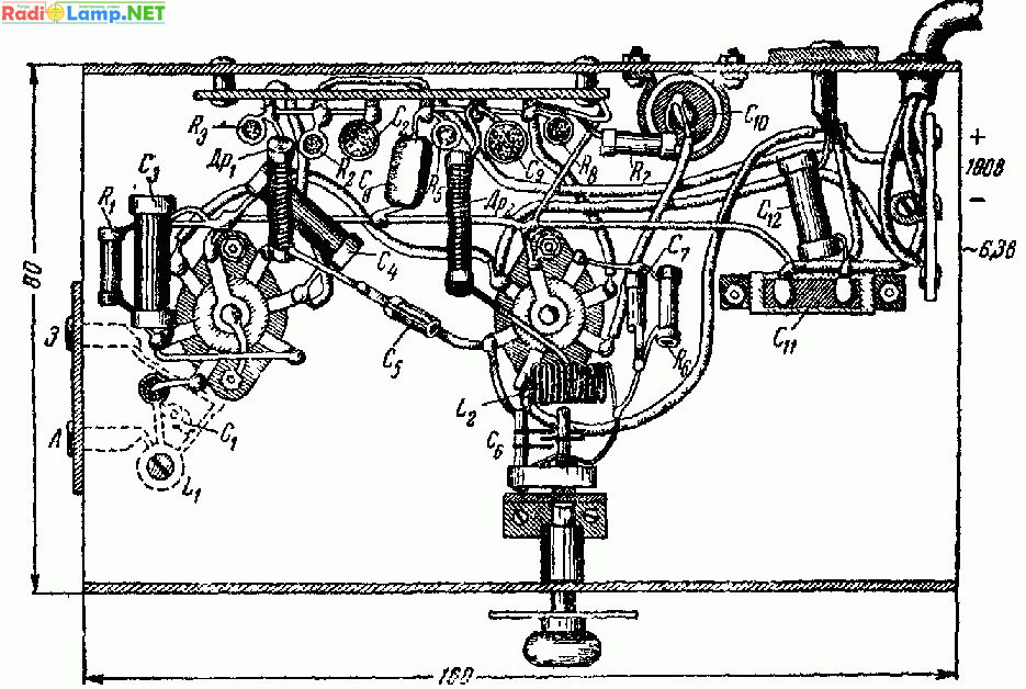 Монтажная схема двухлампового