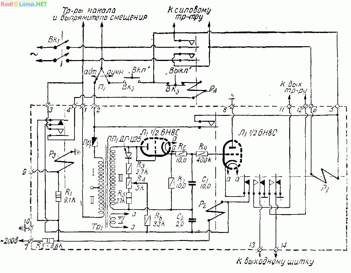 К сказанному следует добавить, что электротермические реле,установленные в усилителях типа ТУ-5 и ТУ-5-3...