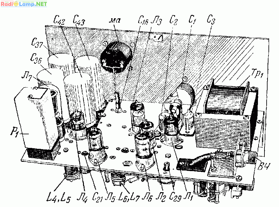 Схема пятидиапазонного
